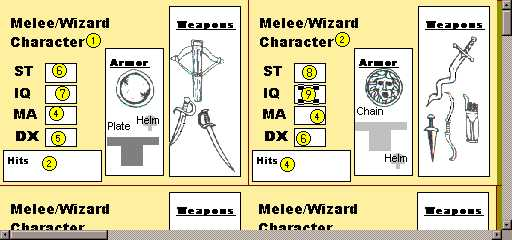 Melee/Wizard character sheet